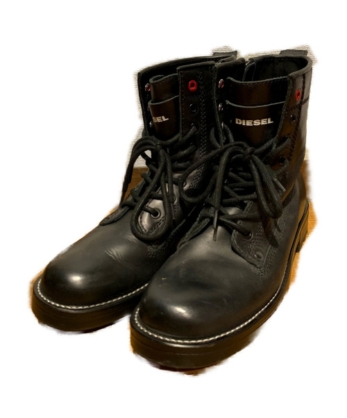 DIESEL(ディーゼル)DIESEL (ディーゼル) コンバットブーツ ブラック サイズ:25.5の古着・服飾アイテム
