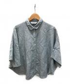 YACCO MARICARD(ヤッコマリカルド)の古着「リネン混シャツ」|ブルー