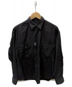 Porter Classic(ポータークラシック)の古着「ドットシャツ」|ダークグレー