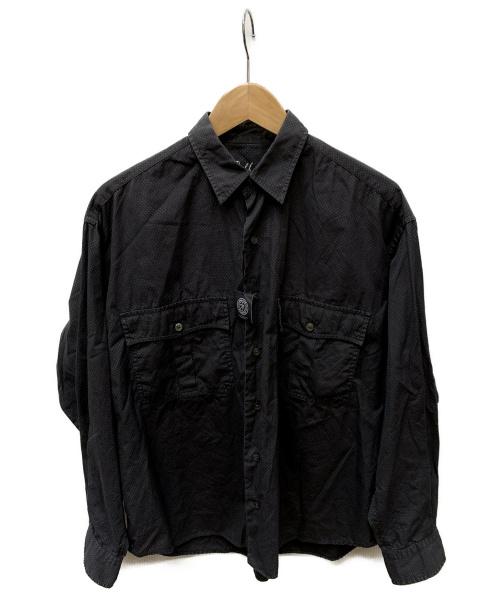 Porter Classic(ポータークラシック)Porter Classic (ポータークラシック) ドットシャツ ダークグレー サイズ:SIZE Sの古着・服飾アイテム