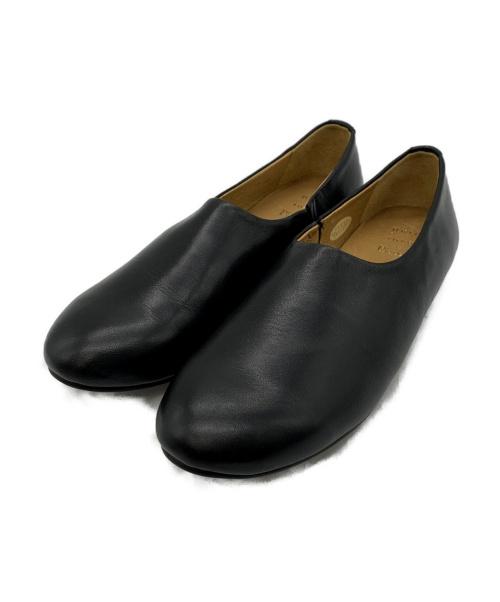 bulle de savon(ビュルデサボン)bulle de savon (ビュルデサボン) ペタンコSH ブラック サイズ:SIZE Mの古着・服飾アイテム