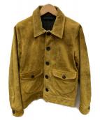 TMT(ティーエムティー)の古着「SUEDE COW LEATHER JACKET」|マスタード