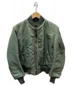 THE REAL McCOYS(ザリアルマッコイズ)の古着「MA-1ジャケット」|オリーブ