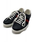 GUCCI(グッチ)の古着「Signature Sneaker」|ネイビー