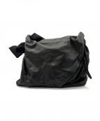 discord Yohji Yamamoto(ヨウジヤマモト)の古着「レザーショルダーバッグ」|ブラック