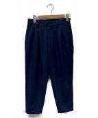 ()の古着「シャンブレーワイドテーパードパンツ」|ブルー