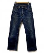 THE FLAT HEAD(ザ・フラットヘッド)の古着「セルビッチデニムパンツ」|ブルー