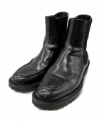 DRIES VAN NOTEN(ドリスバンノッテン)の古着「Calf Skin Chelsea Boots」|ブラック