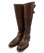 SARTORE(サルトル)の古着「ベルトモチーフロングブーツ」|ブラウン