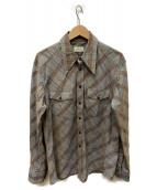 LEMAIRE(ルメール)の古着「Grey Check Wester Shirt」 ベージュ