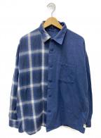 SSZ(エスエスゼット)の古着「ネルシャツ」|ネイビー