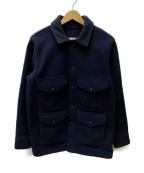 FILSON GARMENT(フィルソンガーメント)の古着「メルトンウールクルーザージャケット」 ブラック