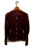 ISAMU KATAYAMA BACKLASH(イサムカタヤマ バックラッシュ)の古着「シングルライダースジャケット」|ボルドー