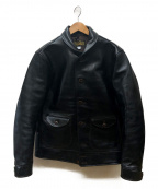 ORGUEIL(オルゲイユ)の古着「Horse Leather Cossack Jacket」|ブラック