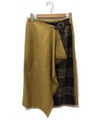 ONEIL OF DUBLIN(オニール オブ ダブリン)の古着「キルトスカート」|イエロー