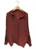 ISSEY MIYAKE(イッセイミヤケ)の古着「プリーツシャツ」|ブラウン