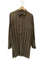 ISSEY MIYAKE(イッセイミヤケ)の古着「シャツワンピース」|ブラウン
