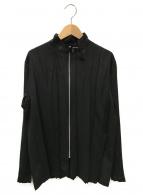 ISSEY MIYAKE(イッセイミヤケ)の古着「プリーツジャケット」|ブラック