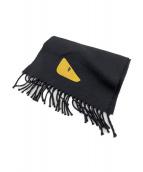 FENDI(フェンディ)の古着「BAG BUGS マフラ-」|ブラック