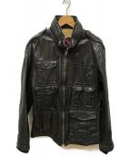 AVIREX(アビレックス)の古着「M-65 レザージャケット」|ブラック