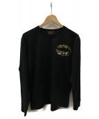 VANSON(バンソン)の古着「長袖Tシャツ」|ブラック