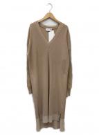 mame kurogouchi(マメ クロゴウチ)の古着「Mixed Knitted Fabric Dress」|アイボリー
