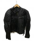 KADOYA(カドヤ)の古着「シングルレザージャケット」 ブラック
