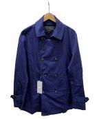 BEAMS Lights(ビームスライト)の古着「ステンカラーコート」|ブルー