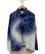 NOMA t.d.(ノーマティーディー)の古着「Tie Dye Shirt」 ブルー