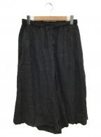 Veritecoeur(ヴェリテクール)の古着「リネンワイドパンツ」|ブラック