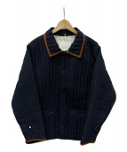 PHINGERIN(フィンガリン)の古着「QUILTED SHIRT DOUBLE SIDED」|ネイビー