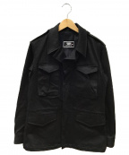 Junhashimoto()の古着「ストレッチミリタリージャケット」|ブラック
