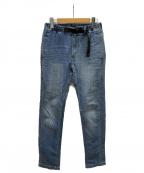 GRAMICCI()の古着「ストレッチ デニムナローパンツ」|ブルー