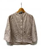 SONIA RYKIEL(ソニア リキエル)の古着「レオパードジャガードジャケット」|ベージュ