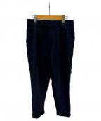 COMOLI()の古着「ウールリネン2タックパンツ」|ネイビー