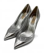 VALENTINO GARAVANI(ヴァレンティノ・ガラヴァーニ)の古着「Metallic Leather Pointed Toe P」|シルバー