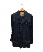 CLASS(クラス)の古着「リネン混ジャケット」|ブルー