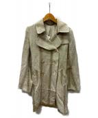 MS BRAQUE(エムズ ブラック)の古着「ダブルコート」|アイボリー