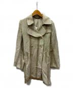 ms braque(エムズ ブラック)の古着「ダブルコート」 アイボリー