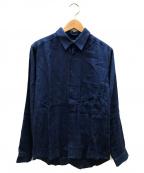 FRANK LEDER(フランクリーダー)の古着「リネンシャツ」 ブルー