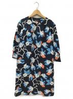 marimekko(マリメッコ)の古着「ブラウスワンピース」|ネイビー