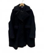 GANNI(ガニー)の古着「オーバーサイズコート」|ブラック