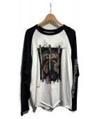 SUPREME(シュプリーム)の古着「Dog Raglan L/S Top」|ホワイト×ブラック