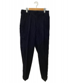 Graphpaper(グラフペーパー)の古着「Wool Sucker Tapered Pants」 ネイビー