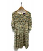 TOCCA(トッカ)の古着「LIBERTY DE CHINE ドレス」 ネイビー×イエロー