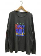 Travis Scott(トラビス スコット)の古着「L/S T-Shirt Washed Black」|ライトグレー
