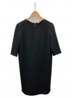 Deuxieme Classe(ドゥーズィエムクラス)の古着「トリアセジョーゼット 七分袖ワンピース」|ブラック