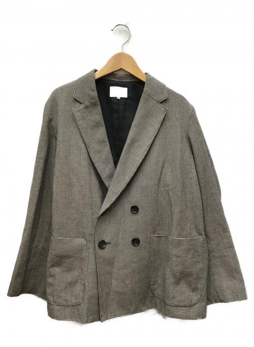 LE GLAZIK(ル グラジック)LE GLAZIK (ルグラジック) ウールダブルボタンジャケット ブラウン サイズ:36の古着・服飾アイテム