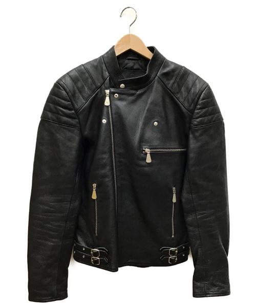 MCQ(マックキュー)MCQ (マッキュー) ダブルライダースジャケット ブラック サイズ:IT44の古着・服飾アイテム