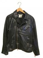 KATHARINE HAMNETT(キャサリンハムネット)の古着「ライダースジャケット」 ブラック